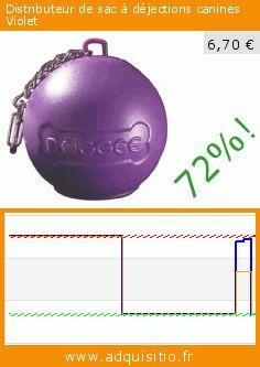 Distributeur de sac à déjections canines Violet (Divers). Réduction de 72%! Prix actuel 6,70 €, l'ancien prix était de 24,20 €. https://www.adquisitio.fr/doggee-purple/distributeur-sac