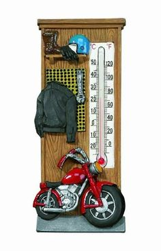 Spoontiques Motorcycle Thermometer | bikeraa.com http://bikeraa.com/spoontiques-motorcycle-thermometer/
