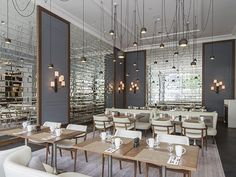 mirrored brick wall tile @ Hilton Rotterdam gets new lease of life from RPW Design