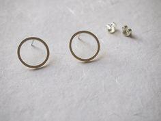 zilveren oorbellen 'cirkel'