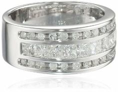 10k White Gold Diamond Ring (1 cttw, H-I Color, I1-I2 Clarity)