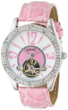 6fc56fa528e Women Watches - August Steiner Womens AS8034PK Crystal Skeleton Strap Watch      Be sure
