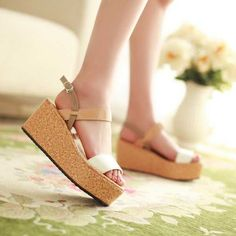 Sweet Patent Leather Sparkling Glitter Wedges Sandals For Girls