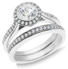 1.00 Carat Diamond Engagement Ring Set