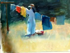 hanging laundry- Fred Gibbons