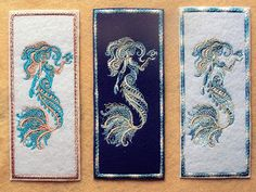 Below is the last of the Machine Embroidered Bookmarks that I will be making for upcoming craft fairs.