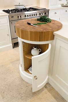 Coolest Idea Ever. Just a small spot to help prevent undue scratches if anyone is TEMPTED to cut anything WITHOUT a cutting board. Painted Kitchens - Painted Bespoke Kitchens - Tom Howley Most Popular Kitchen Design Ideas on 2018 & How to Remodeling Kitchen Tops, Diy Kitchen, Kitchen Small, Kitchen Corner, Decorating Kitchen, Kitchen Decorations, Kitchen Worktops, Kitchen Layouts, Kitchen Designs