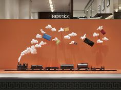 The JoAnn Tan Studio – Autumn installation for Hermès store in Stockholm 2014. www.joanntanstudio.com