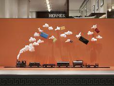 """Hermès, Stockholm, Sweden, """"Fluffiga Moln"""", (Fluffy Clouds), pinned by Ton van der Veer"""