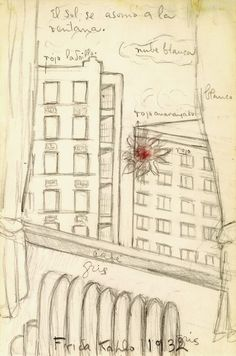 "igormaglica: ""Frida Kahlo (1907-1954), The sun peeks through the window, 1932. """