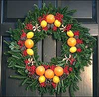 """Christmas Wreath tutorial - reprinted from the book """"Christmas Decorations from Williamsburg"""""""
