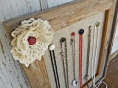 Vintage Flair Jewelry Display: Earring and Necklace Organizers by Humble Bee Project#jewelry organizer#Jewelry holder