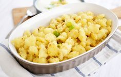 Wiener Schnitzel, Cauliflower, Macaroni And Cheese, Side Dishes, Vegetables, Ethnic Recipes, Food, Chef Recipes, Food Ideas