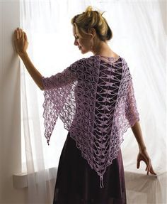 Wow, this lace crochet shawl is incredible. Dragonfly Shawl by Kristin Omdahl