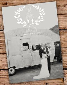 Text und Wedding Logo auf die Karte gedruckt