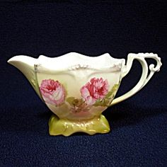 Rs Germany Ornate Porcelain Creamer Roses Decoration