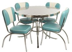 Love this table top for my 50s kitchen table makeover... Love the chairs too