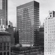 Lever House, NYC; Vintage photo.