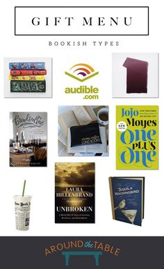 Around the Table podcast offers a gift menu for the bookish types in your life!