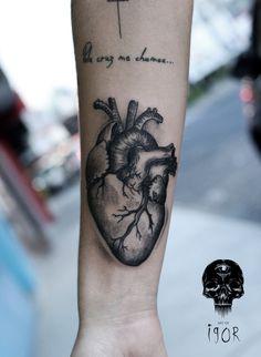 Anatomical heart done by Igor Pereira - Brazil  @artofigor artofigor.tumblr.com