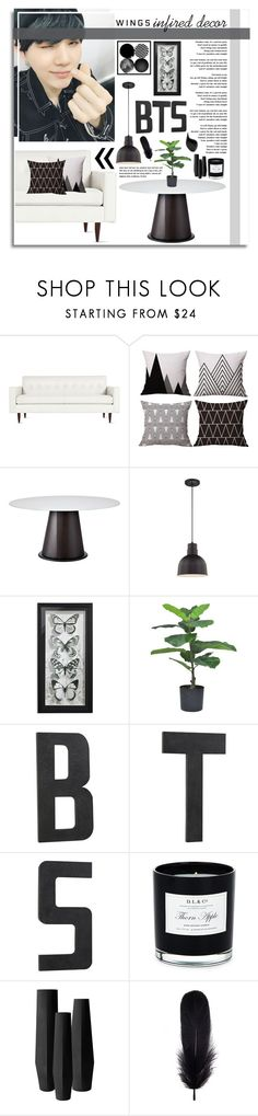 """""""BTS Wings Infired (inspired) Decor ~"""" by odesigns ❤ liked on Polyvore featuring interior, interiors, interior design, home, home decor, interior decorating, Design Within Reach, Domitalia, Pottery Barn and D.L. & Co."""