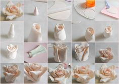 No need to buy expensive cutters when all you need is a round cutter or glass to make a rose