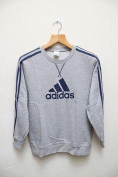 Vintage ADIDAS Pullover grau Pullover Sweatshirt Größe M