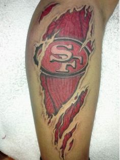 NFL tattoos: the good, the bad, and the ugly Photos) Time Tattoos, Tatoos, Lfc Tattoo, Football Tattoo, Nfl Football, 49ers Pictures, Niners Girl, 49ers Fans, Special Tattoos