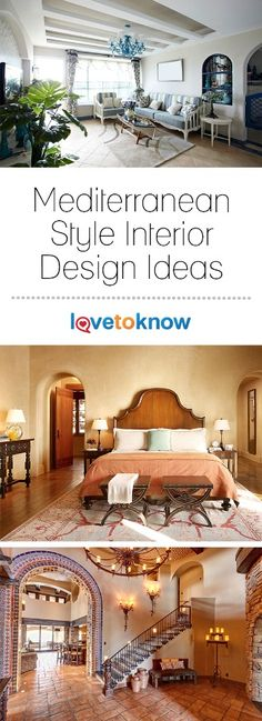 Evoke the romance and cornucopia of smells, tastes, and colors on the southern coast of Europe by designing your home with Mediterranean flair. The region's casual and friendly lifestyle is reflected in the relaxed design, rustic furniture, and wall textures. It's a colorful and pleasing design style that brings a touch of the Mediterranean to even the most northern home. | Mediterranean Style Interior Design Ideas from #LoveToKnow