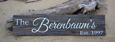 Home Decor Sign Family Name Sign Driftwood by CarovaBeachCrafts, $45.00