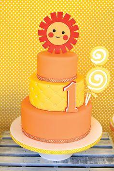 Sunshine & Lollipops First Birthday Party // Hostess with the Mostess® Lollipop Birthday, First Birthday Cakes, Birthday Fun, First Birthday Parties, First Birthdays, Birthday Ideas, Birthday Photos, Sunshine Cookies, Sunshine Cake