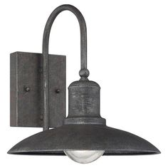 Illuminate your porch or entryway with this handsome wall sconce, showcasing an artisan rust finish for a touch of industrial-chic appeal.  ...