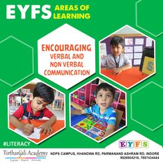 Eyfs Areas Of Learning, Eyfs Curriculum, Literacy Skills, Indore, Communication Skills, Pre School, Innovation, Encouragement, Nursery