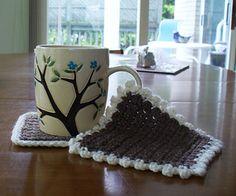 Lavoro all'uncinetto, dieci modelli crochet di sottobicchieri   diLanaedaltrestorie