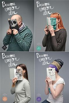 """""""Become Someone Else"""" campaign by Love Agency for librairies Vientu Monnaie - Pick your hero at a bookstore"""