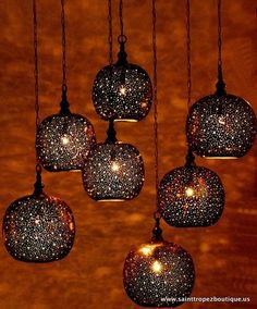 moroccan lighting - sold at St. Tropez Boutique in SF