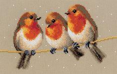 Vervaco keresztszemes kép – Három vörösbegy – 2002/76148 | Foltvarázs keresztszemes - kézimunka webáruház - keresztszemes készletek, foltvarrás, szalaghímzés, leírások, minták