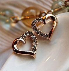 Jewelry Design Earrings, Gold Earrings Designs, Gold Jewellery Design, Fashion Jewellery, Gold Fashion, 24k Gold Jewelry, Gold Jewelry Simple, Real Diamond Earrings, Crystal Earrings