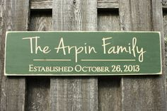 Personalized Last Name Family Name Established Sign - 8x26 Carved Engraved with Date Rustic Wooden Sign - CARVED Words
