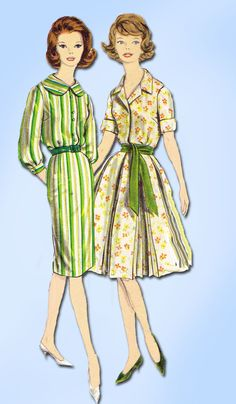 1960s Vintage Vogue Sewing Pattern 5067 Misses Rockabilly Dress Size 10 31 Bust