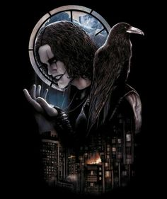The Crow, Brandon Lee, Gothic Fantasy Art, Dark Fantasy, Corvo Tattoo, Crow Movie, Horror Shirts, Beautiful Dark Art, Crow Art