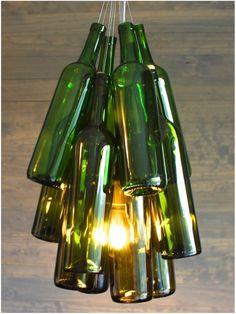 Lustres com garrafas de vidro – Ideias Diferentes