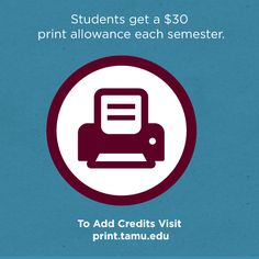 Nearing the end of your allotted 300 pages as we near the end of the semester? No worries Ag's! Just head to print.tamu.edu to add money to your printing account #TAMUIT #OALReminders