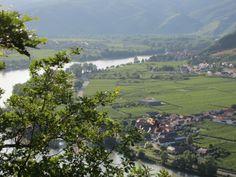 The Danube flowing through lovely Wachau (Austria)