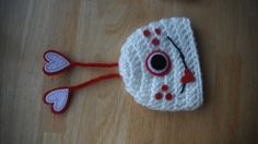 Crocheted Valentine monster Hat  Newborn Photo Prop by lilianda, $24.99
