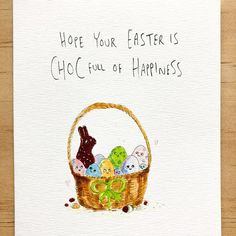 Hope your easter is Choc full of happiness laughter family friends and obviously copious amounts of chocolate. Enjoy the saturday see more at welldrawn.com.au