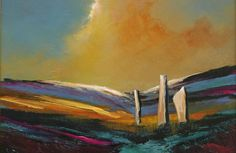 Machrie Moor by Scottish contemporary landscape painter J Mackintosh Isle Of Arran, Contemporary Landscape, Garden Landscaping, How To Look Better, Art Paintings, Watercolour, Front Yard Landscaping, Pen And Wash, Watercolor Painting