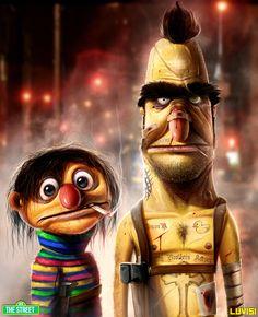Bert and Ernie - My Brother's Keeper - by DanLuVisiArt.deviantart.com on @deviantART