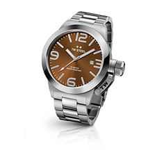 TW Steel CB22 Mens Canteen Bracelet Silver Band Brown Dial Watch *** Find out more about the great product at the image link.