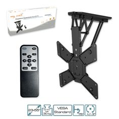 TV holder motorized with IR remote folding ceiling mount for LCD TV